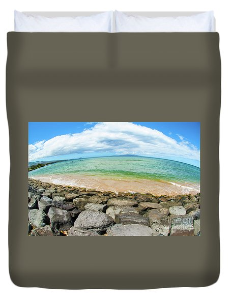 Duvet Cover featuring the photograph Huge Wikiki Beach by Micah May