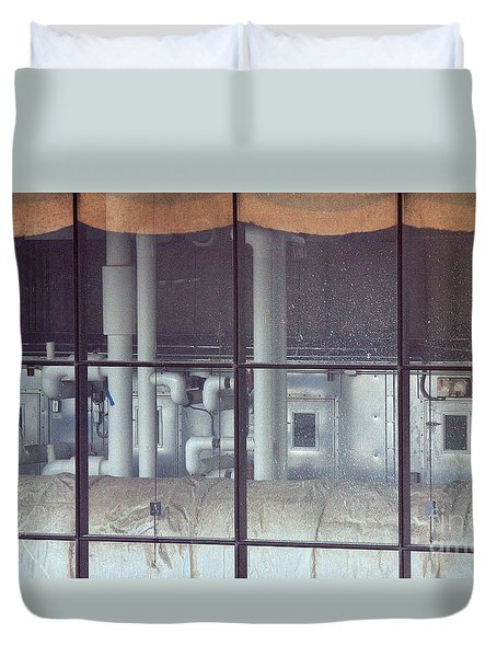 Duvet Cover featuring the photograph Hugest Pipe by Steven Macanka