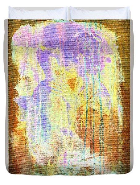 Hugging Canvas Duvet Cover
