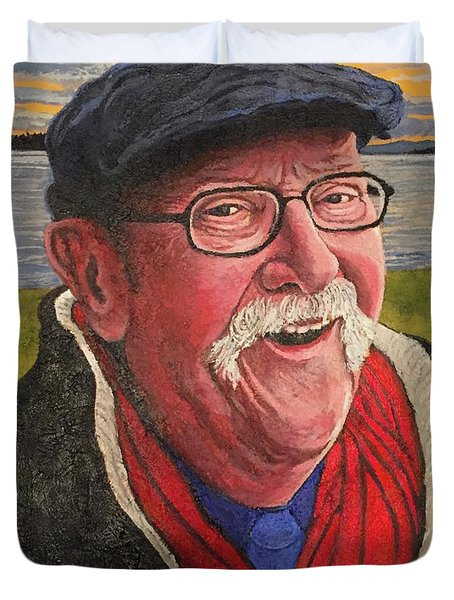 Duvet Cover featuring the painting Hugh Hanson Davidson by Tom Roderick