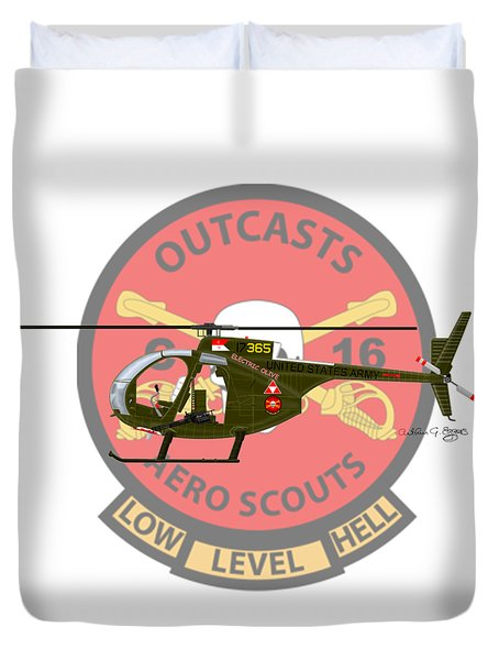 Hughes Oh-6a Electric Olive II Duvet Cover by Arthur Eggers