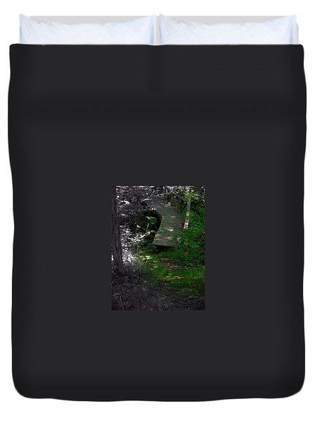 Duvet Cover featuring the photograph Hugh's Bridge by Richard Ricci