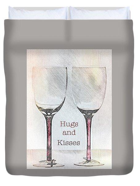 Hugs And Kisses Duvet Cover