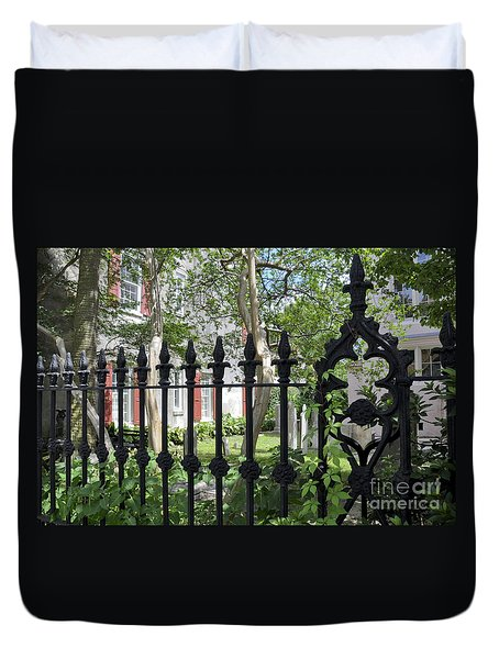 Duvet Cover featuring the photograph Huguenot Church Cemetery by Gina Savage
