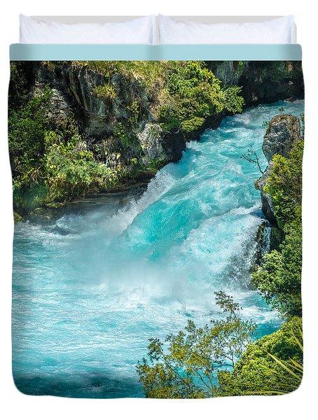 Huka Falls Duvet Cover by Racheal Christian