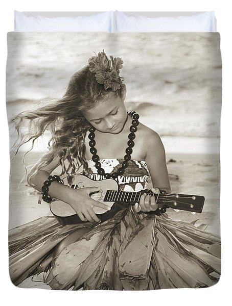 Hula Girl Duvet Cover by Himani - Printscapes
