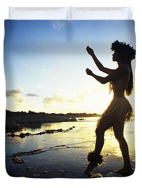 Hula Silhouette Duvet Cover