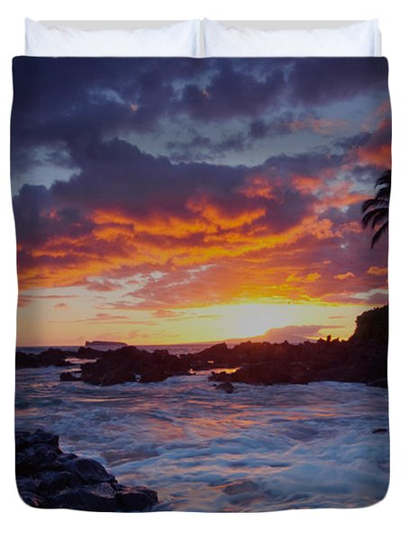 Hula Sunset Duvet Cover
