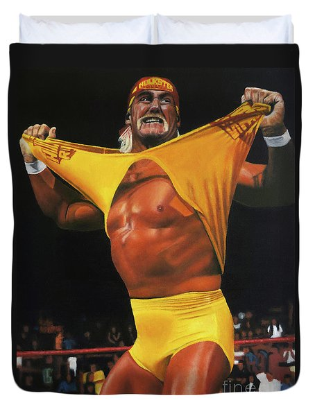 Hulk Hogan Oil On Canvas Duvet Cover