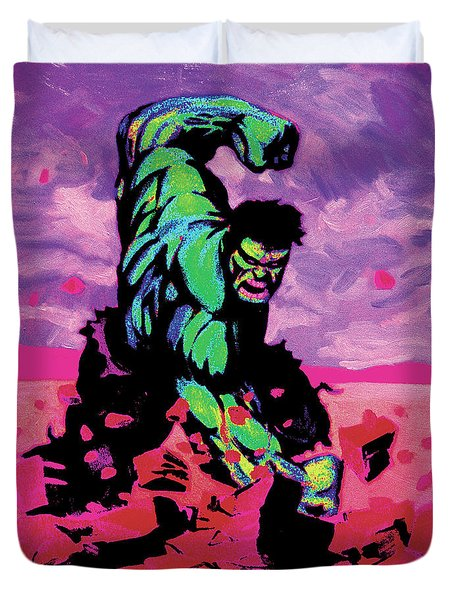 Hulk Smash Duvet Cover