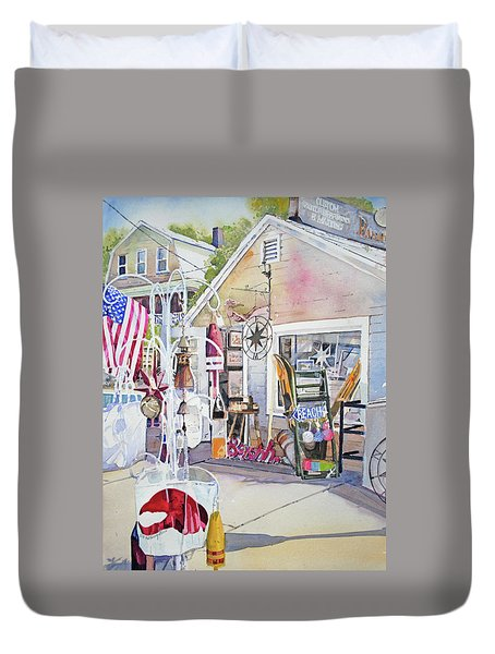 Hull Of A Shoppe Duvet Cover