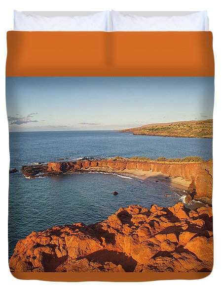 Hulopoe Beach Sunrise Duvet Cover