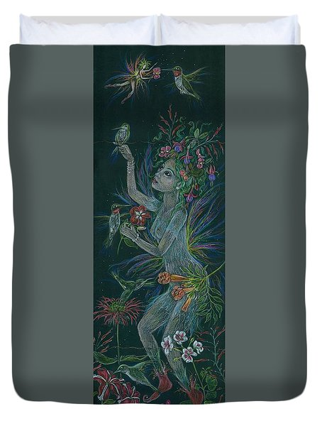 Hum Duvet Cover by Dawn Fairies