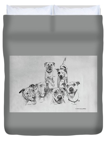 Humane Society Gang Duvet Cover