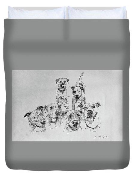 Humane Society Gang Duvet Cover