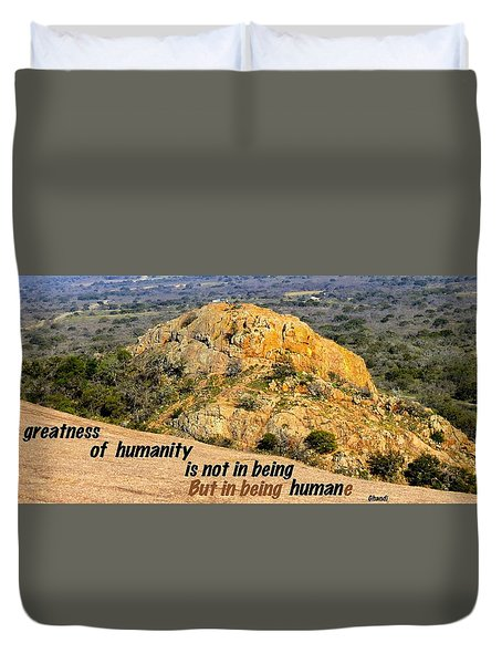 Humanity Reworked Duvet Cover by David Norman
