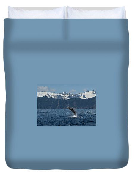 Humback Whale Full Breach Duvet Cover