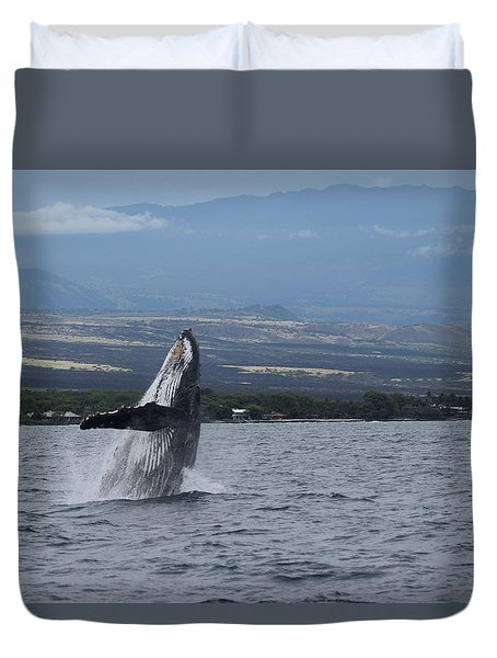 Duvet Cover featuring the photograph Humback Whale by Pamela Walton