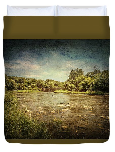 Humber River At Old Mill Duvet Cover