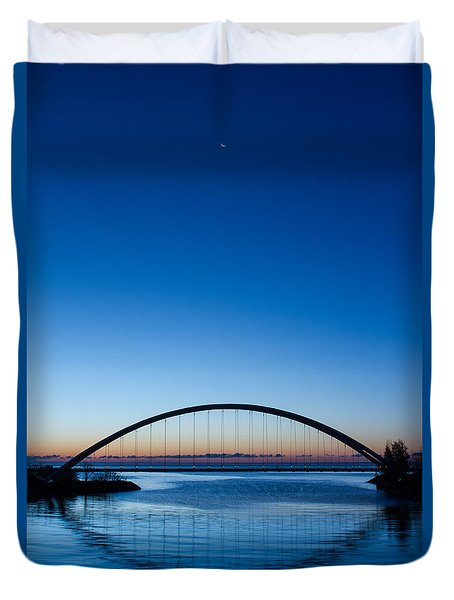 Humber River Dawn Duvet Cover