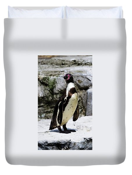 Duvet Cover featuring the photograph Humboldt Penguin by Scott Lyons