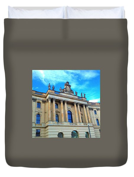 Humboldt University Of Berlin Duvet Cover by Raphael Antimisaris