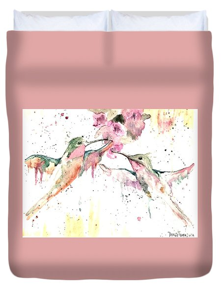 Hummers Duvet Cover by Denise Tomasura