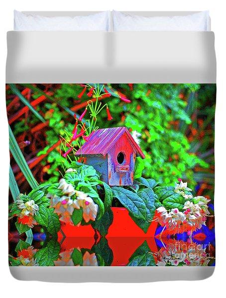 Humming Bird House Duvet Cover