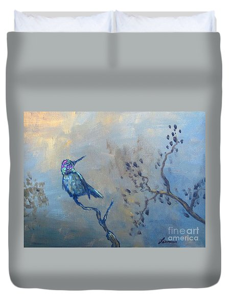 Humming Bird Duvet Cover by Laurianna Taylor