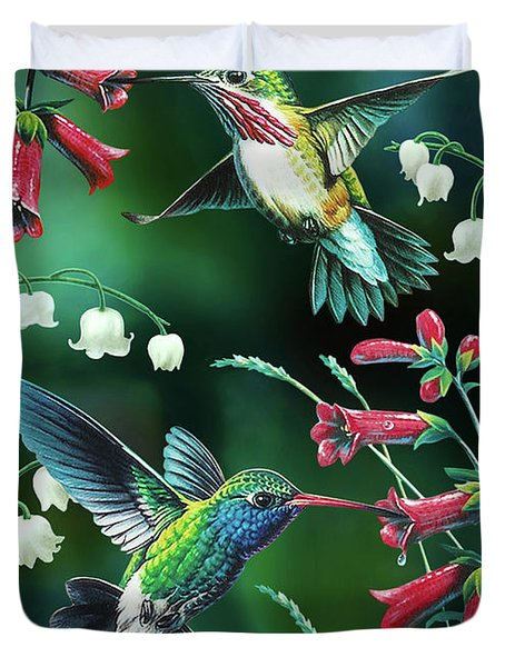 Humming Birds 2 Duvet Cover