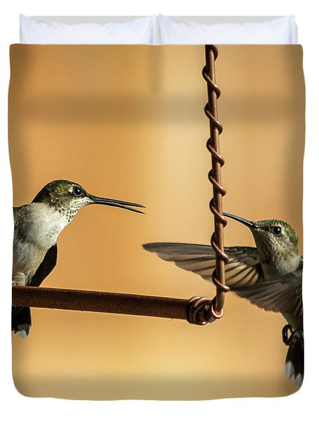 Humming Birds Duvet Cover