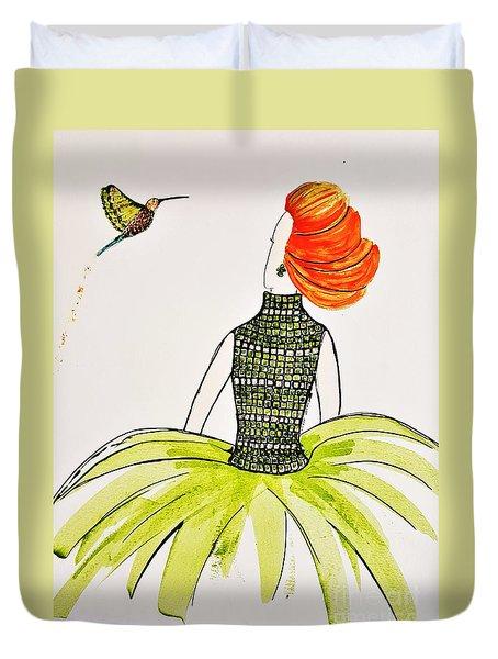 Hummingbird Admirer Duvet Cover