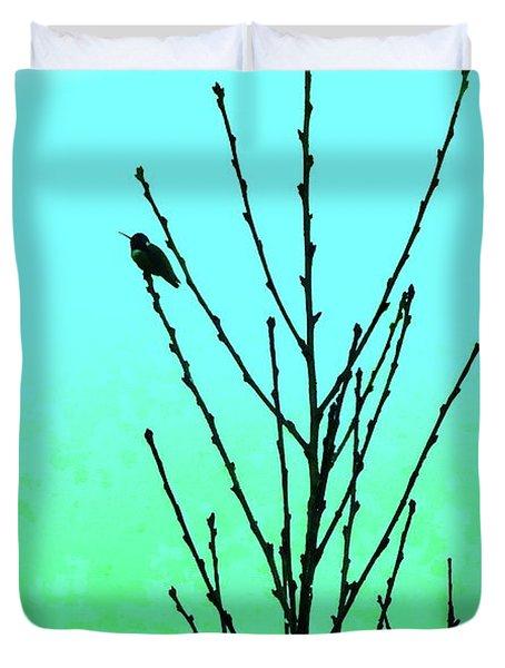 Hummingbird After Rain Duvet Cover