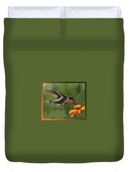 Hummingbird Art Duvet Cover
