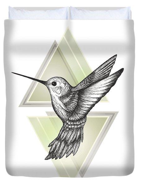 Hummingbird Duvet Cover by Barlena