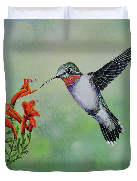 Hummingbird Beauty Duvet Cover