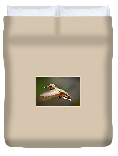 Hummingbird Facing Left Duvet Cover