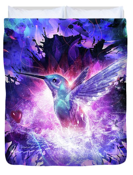Hummingbird Love Duvet Cover