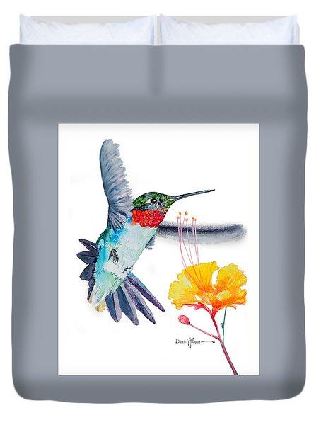 Da169 Hummingbird Flittering Daniel Adams Duvet Cover