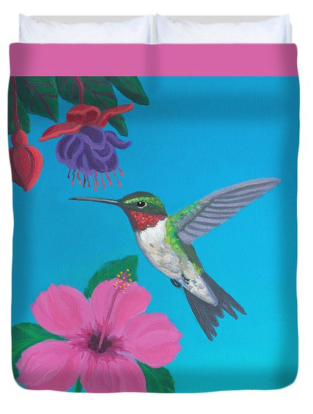 Hummingbird Heaven Duvet Cover by Frank Strasser