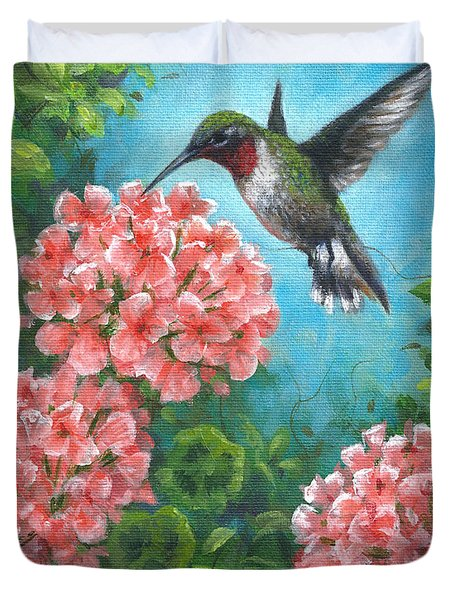 Hummingbird Heaven Duvet Cover