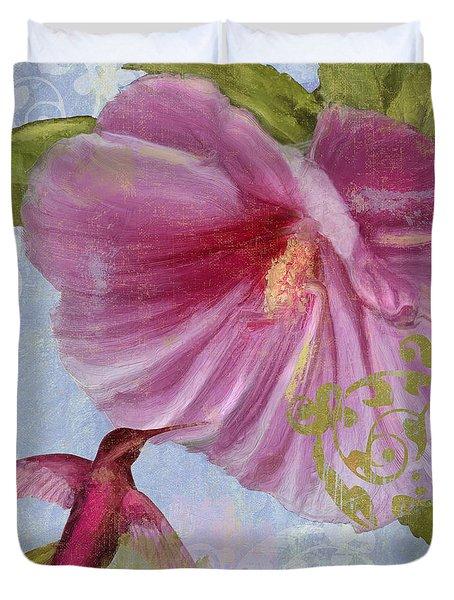 Hummingbird Hibiscus I Duvet Cover