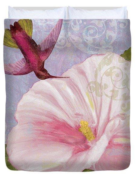 Hummingbird Hibiscus II Duvet Cover