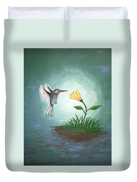 Hummingbird II Duvet Cover