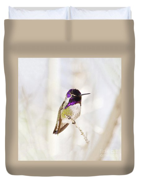 Hummingbird Larger Background Duvet Cover
