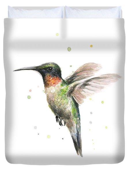 Hummingbird Duvet Cover by Olga Shvartsur