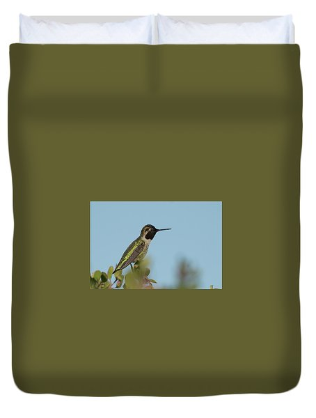 Hummingbird On Watch Duvet Cover