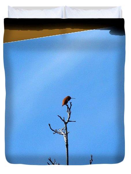 Hummingbird Optical Zoom Duvet Cover