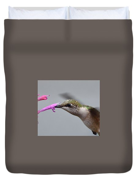 Hummingbird Profile Duvet Cover