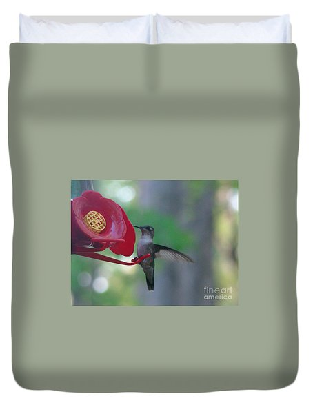 Duvet Cover featuring the photograph Hummingbird  by Rand Herron